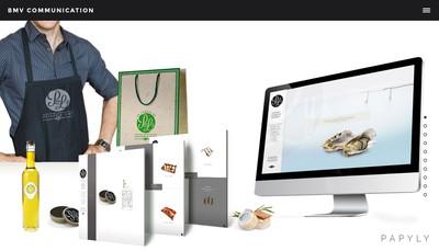 Site internet de BMV Production Communication