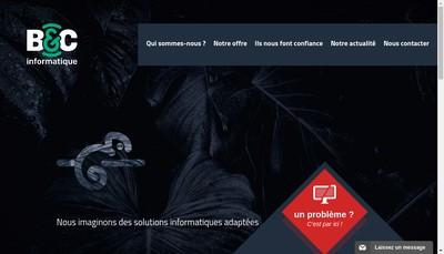 Site internet de B & C Informatique