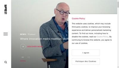 Site internet de Boffi France