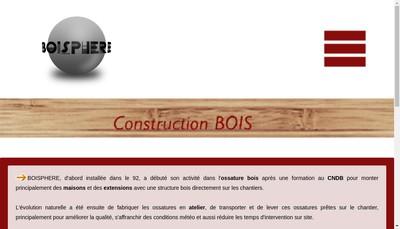 Site internet de Boisphere SARL