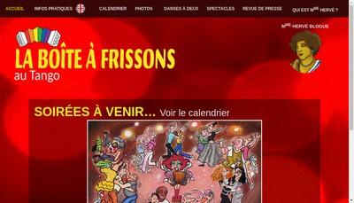 Site internet de La Boite a Frissons