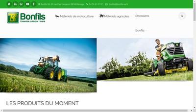 Site internet de SAS Bonfils