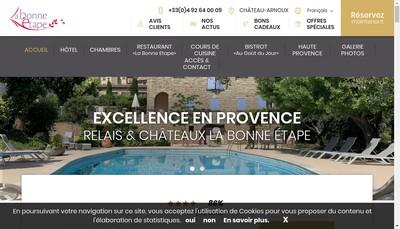 Site internet de La Bonne Etape