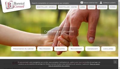 Site internet de Bonniol Bourderon Expertise Comptable