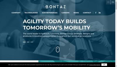 Site internet de Bontaz Centre