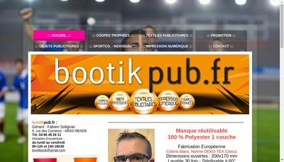 Site internet de Bootikpub Fr