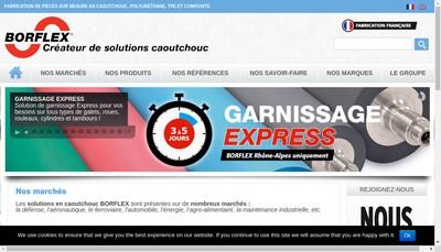 Site internet de Borflex Rhone Alpes