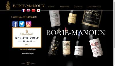 Site internet de Borie Manoux
