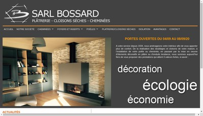 Site internet de Bossard SARL