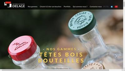 Site internet de Les Bouchages Delage