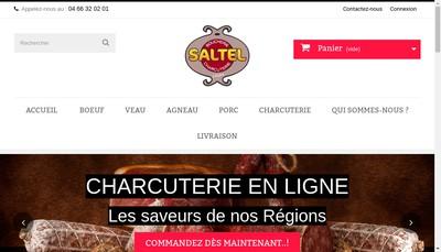 Site internet de Boucherie Saltel