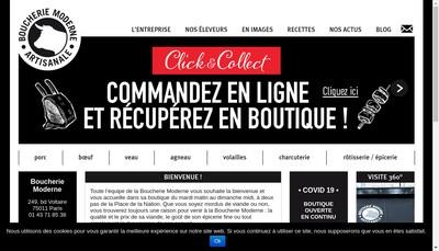 Site internet de EURL Selection Boucherie Moderne
