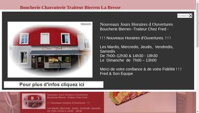 Site internet de Chez Fred