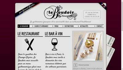 Site internet de Le Boudoir
