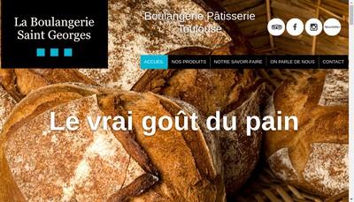 Site internet de Boulangerie Saint Georges