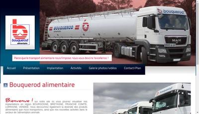 Site internet de Bouquerod Alimentaire