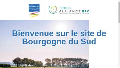 Site internet de Societe Cooperative Agricole et Viticole Bourgogne du Sud