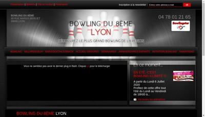 Site internet de Bowling du Plan
