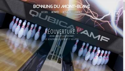 Site internet de Bowling Mont Blanc
