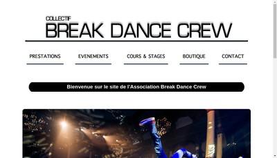 Site internet de Break Dance Crew