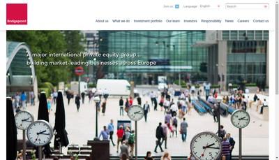 Site internet de Bridgepoint SAS