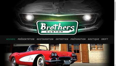 Site internet de Brothers Custom