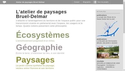 Site internet de Atelier de Paysage Bruel Delmar