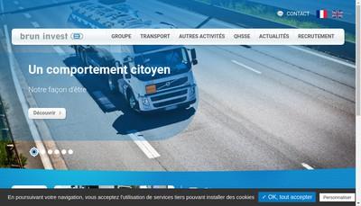Site internet de Brun SA