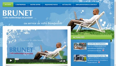 Site internet de Brunet Holding