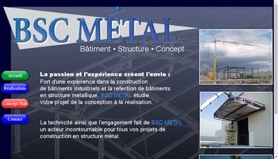 Site internet de Bsc Metal
