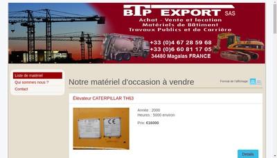 Site internet de Btp Export