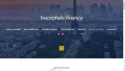 Site internet de Bucephale Finance Conseil - Bucephale Finance M&a