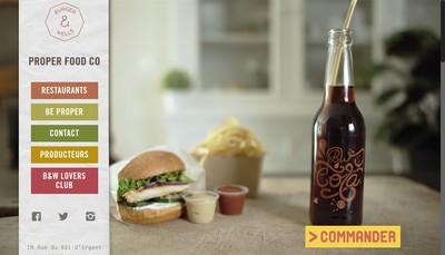 Site internet de Burger & Wells