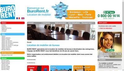 Site internet de Buro Rent SAS