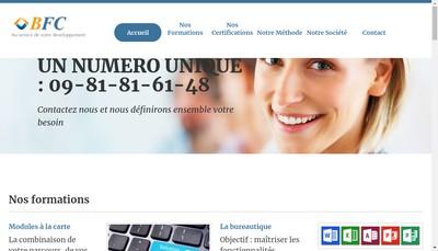Site internet de Business Formation Conseil Paca