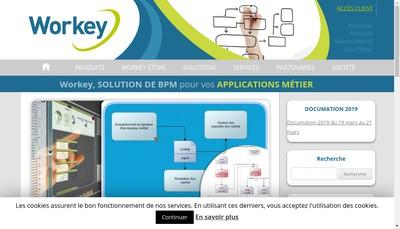 Site internet de Workey D-Bpm