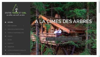 Site internet de Entre Terre et Ciel