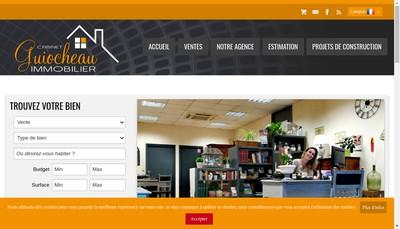 Site internet de Cabinet Guiocheau Immobilier