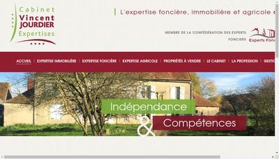Site internet de Cabinet Vincent Jourdier Expertises