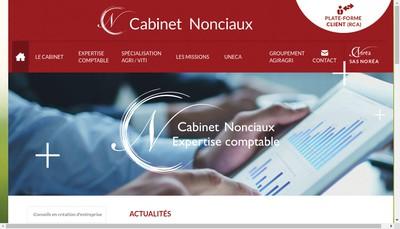 Site internet de Cabinet Nonciaux Bernard
