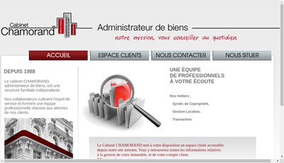 Site internet de Cabinet Chamorand