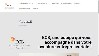 Site internet de Cabinet Expertise Comptable Berti