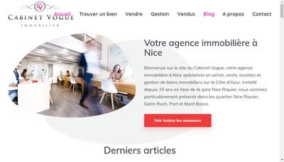 Site internet de Cabinet Vogue