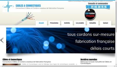 Site internet de Cables & Connectiques