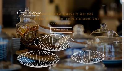 Site internet de Cafe Louise