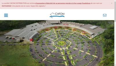 Site internet de Cafom Distribution