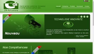 Site internet de Cai Actuators