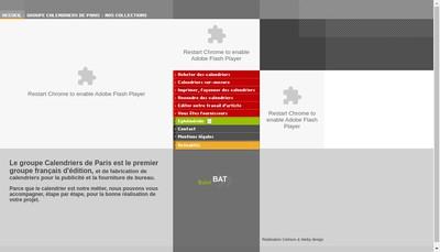 Site internet de Calendriers de Paris