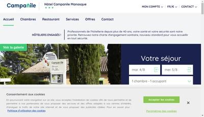 Site internet de Campanile