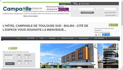 Site internet de Hotel Toulouse Futuropolis